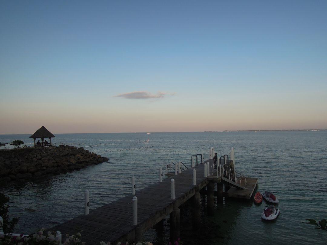 A port at Shangri-La's Mactan Resort and Spa