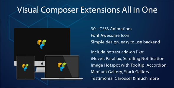 Wordpress Plugin Visual Composer  Extensions All In One v3.3.8 Download
