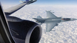 A Delta 767 gets intercepted by Greek F-16s after comm loss.