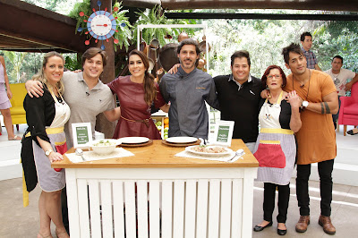 Na foto: Gilda, Lucas, Ticiana, Willian, Hugo Tiago e Iracema. Crédito:Gabriel Gabe/SBT