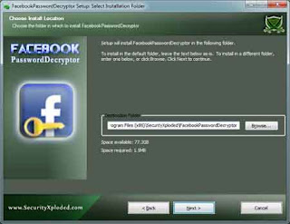 Facebook Password Decryptor, password recovery, recover password, Facebook password, Facebook, password, recovery