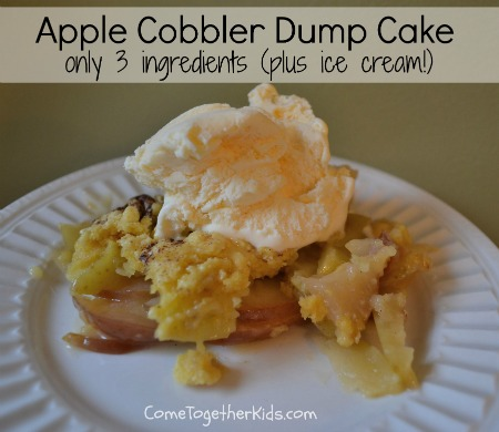 Apple Cobbler Dump Cake With Fresh Apples