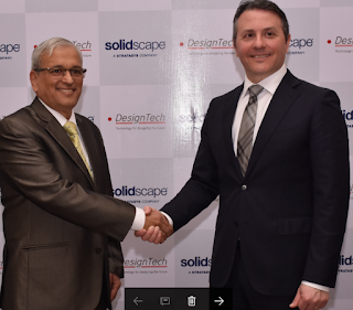 Mr. Vikas Khanvelkar, Managing Director, DesignTech Systems Ltd.  with Mr. Fabio Esposito, President, Solidscape Inc during launch of High Precision 3D Printers in Mumbai