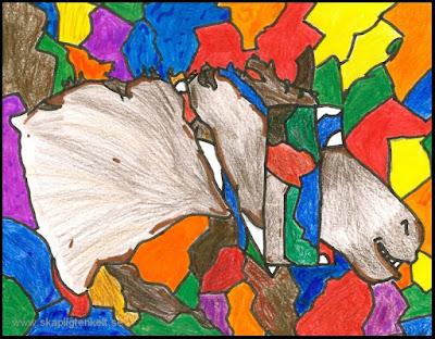 Bilduppgift - djur inspirerade av Picasso