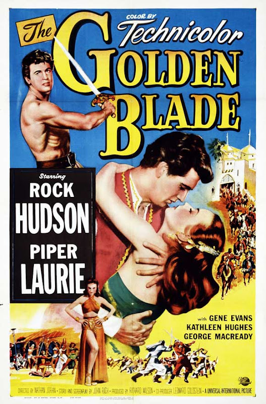 1953 Golden Blade movie poster