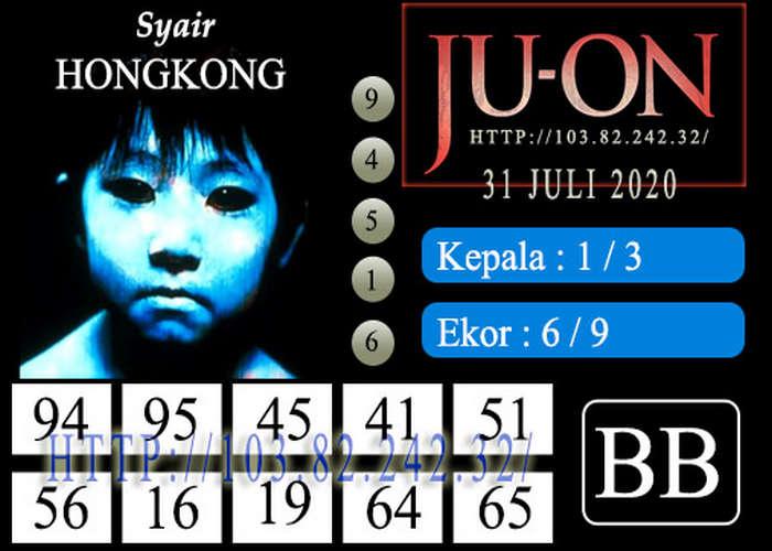 Kode syair Hongkong Jumat 31 Juli 2020 236