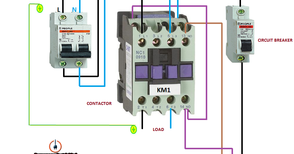Wiring A Time Clock And Contactor Vw Polo Vivo Radio Diagram Electrical Diagrams: Earth Leakage Circuit Breaker