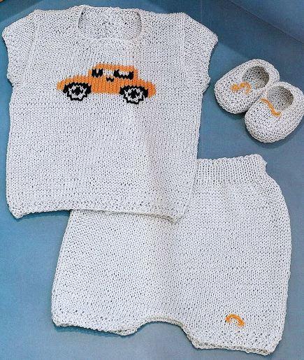 4c8a797c2524c conjunto de bebe de blusa sin mangas pantaln corto y zapatitos con diseo de  automvil en jackard en la parte delantera with revistas de ropa de bebe.