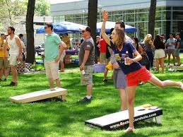 Cornhole: throwing farm produce for pleasure
