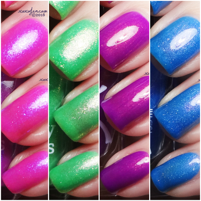 xoxoJen's swatch collage of Ever After Literary Lacquers Peter Cottontail
