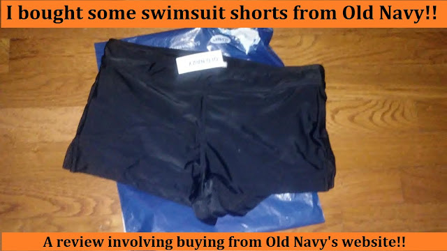 Going swimsuit shopping online on Old Navy: I bought swimsuit shorts!! quality
