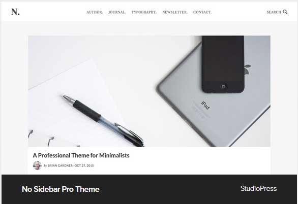 No Sidebar Pro Theme Award Winning Pro Themes for Wordpress Blog : Award Winning Blog