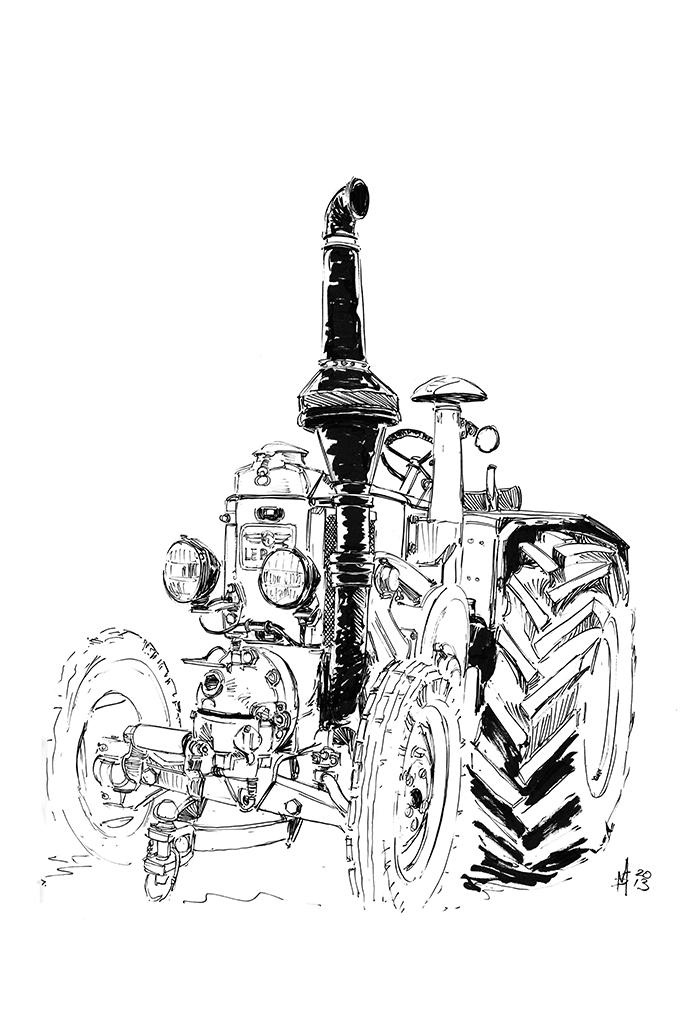 Martin Squires Automotive Illustration: Tractor World 2013