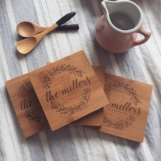 engraved wood coasters for gifts