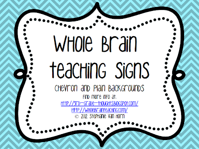 Whole Brain Teaching Classroom Signs | 3rd Grade Thoughts