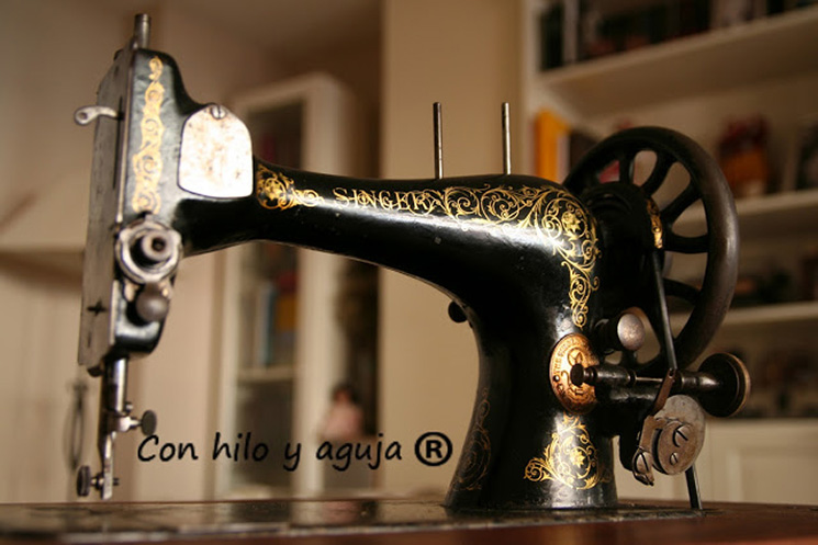 singer maquina de coser antigua