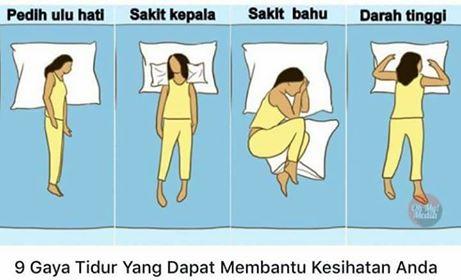 9 Gaya Tidur Yang Dapat Membantu Kesihatan Anda.