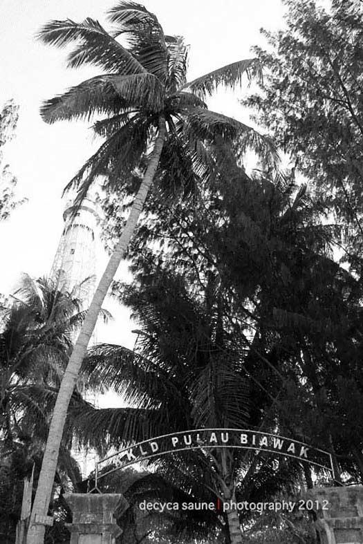gerbang masuk pulau biawak indramayu