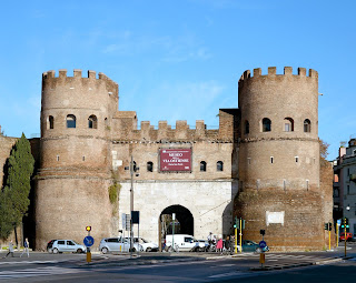 Porta San Paolo, where Via Ostiense leaves Rome