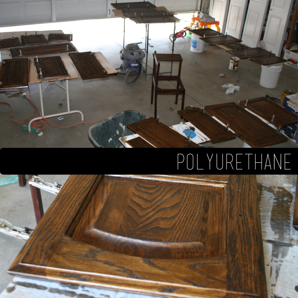 Polyurethane Kitchen Cabinets: The How-To Gal: How-To Refinish Kitchen Cabinets