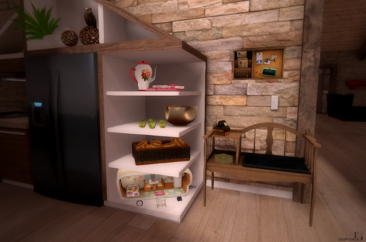 @Melroo's Place: Second Life. Fantasy. Role-play. Fashion.: My new kitchen nook