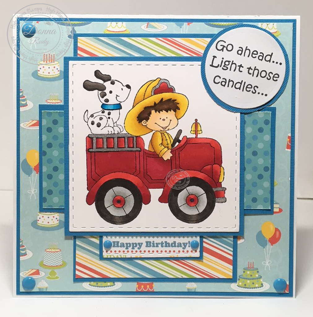 To Help Me Put Out My Birthday Candles With His Fire Truck And Hosewell Actually