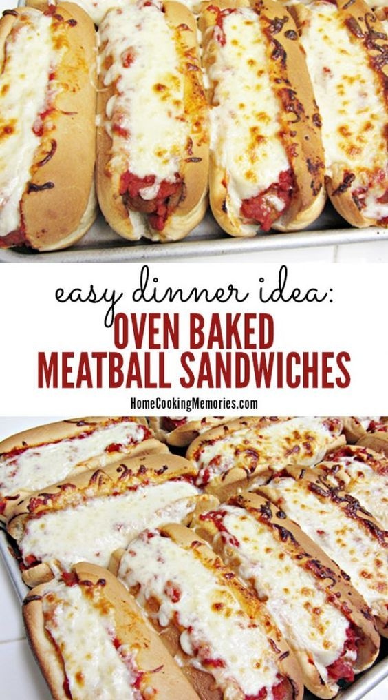 Oven Baked Meatball Sandwiches Recipe