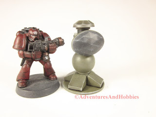 T1552 perimeter sensor array for 25-28mm scale miniature wargames - front view.