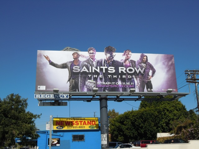 Saints Row The Third game billboard