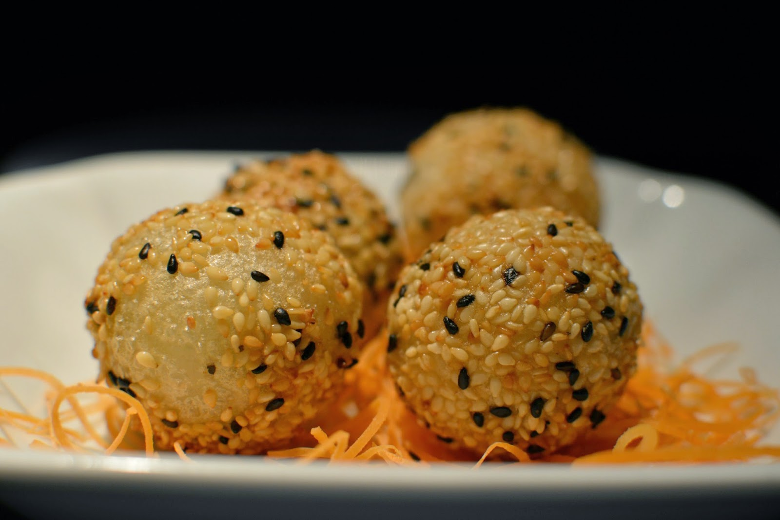 Hakkasan sesame balls for golden week