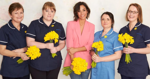 Frankie Bridges and Marie Curie nurses for charity campaign