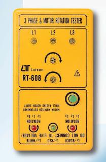 Jual 3 PHASE & MOTOR ROTATION TESTER Lutron RT-608