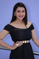 Mannara Chopra in Short Off Shoulder Black Dress ~  Exclusive 006.JPG
