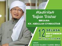 Kajian Dzuhur Bersama KH Abdullah Gymnastiar, Besok di Tangerang