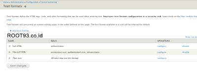 Configuration Full HTML CKEditor