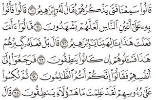 Tafsir Surat Al-Anbiya' Ayat 61, 62, 63, 64, 65