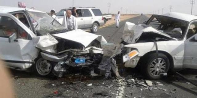 مصرع وإصابة 5 أشخاص فى حادث تصادم سيارتين بطريق الإسماعيلية