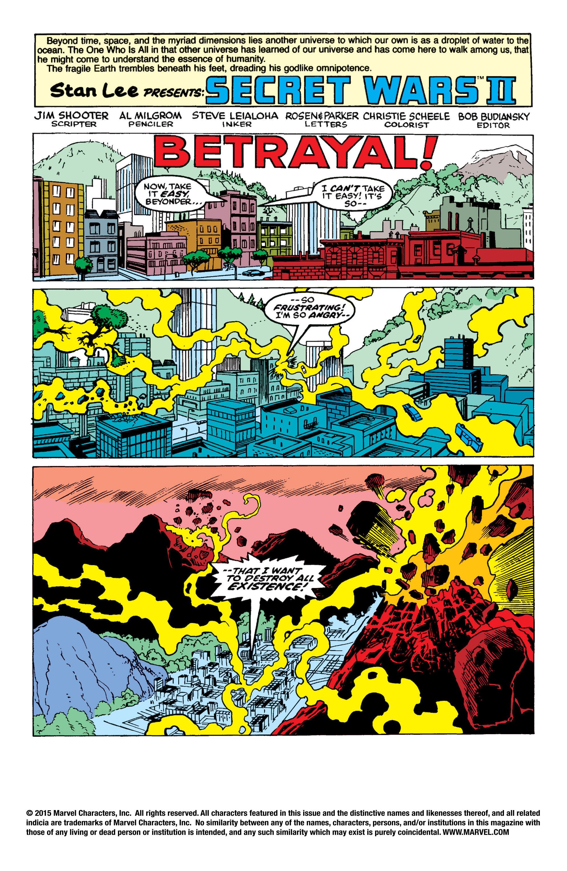 Read online Secret Wars II comic -  Issue #8 - 2