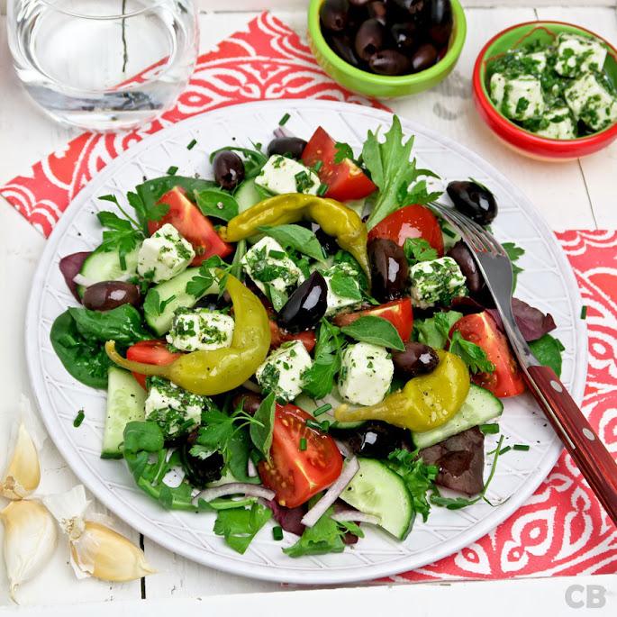 Recept Griekse boerensalade met gemarineerde feta: mamma mia!