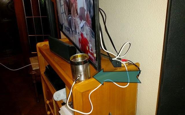 الدرس : كيف تصنع ملتقط هوائي في ثواني لتشغيل قنوات HDTV على جهاز التلفاز وبواسطة إناء بسيط فقط