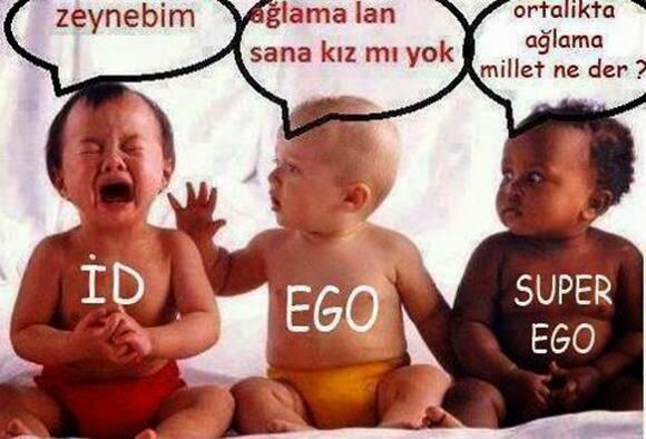 superego and id ego