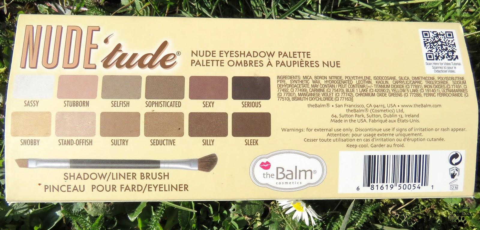 Nude'tude - Palette Ombres à Paupières Nues - The Balm