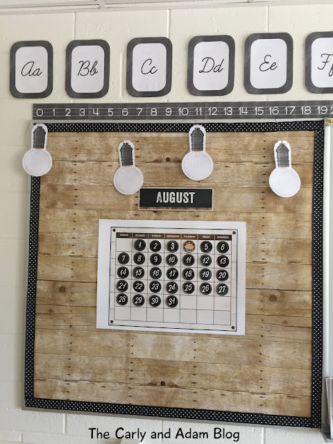 Rustic Classroom Decor ~ The carly and adam my fixer upper classroom reveal