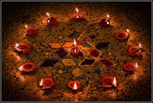 Diwali Diya Home Decoration Images