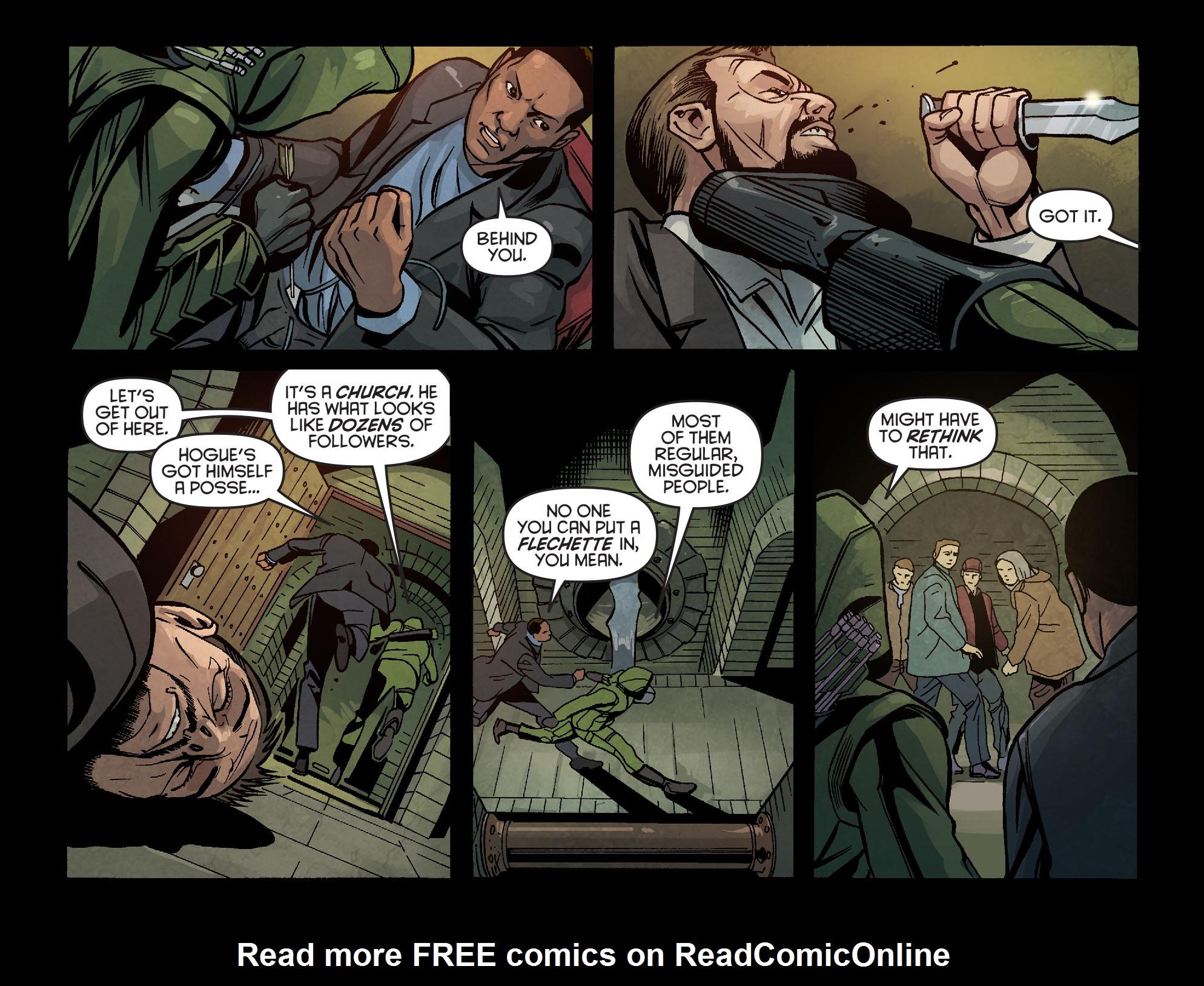 Read online Arrow: Season 2.5 [I] comic -  Issue #6 - 18