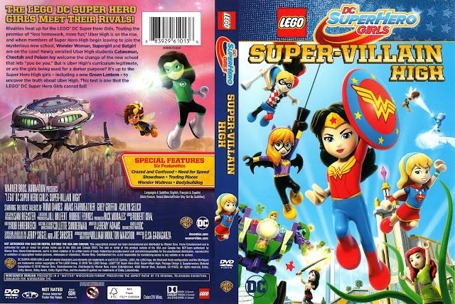 Lego DC Superhero Girls Super-Villain High DVD Cover
