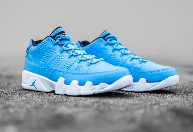 04d5b32d978bb4 North Carolina pure blue color Air Jordan 9 Low