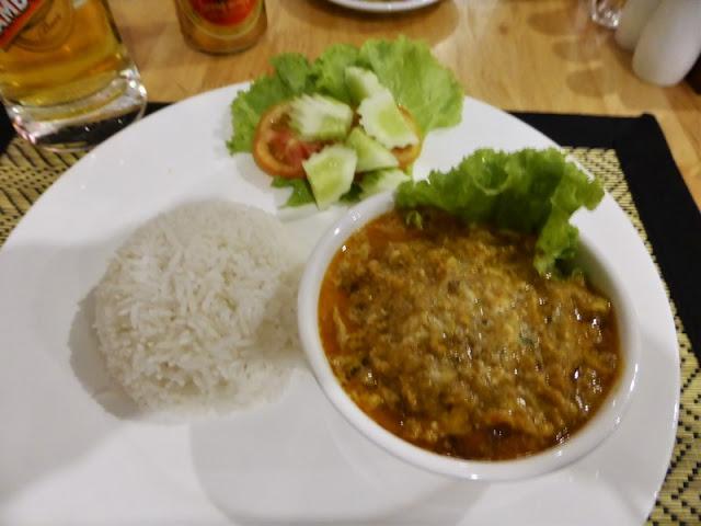 Amok de pescado, un plato de la cocina Khmer
