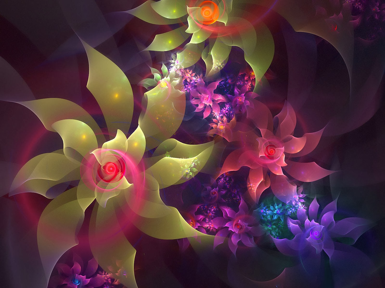 Abstract Design Flower Wallpaper: Wallpapers: 3D Flowers Wallpapers