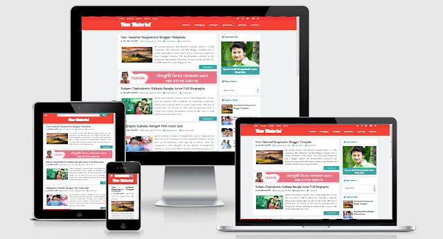 New Material Responsive and SEO Friendly Blogger Template